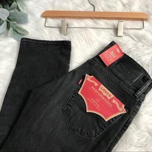 Levi's 511 Washed Black Slim Skinny Jeans 27 x 30
